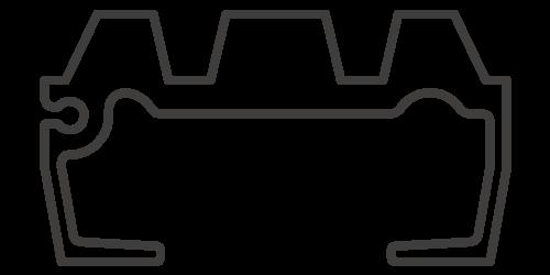 標準3.5インチスチール (3/4インチCWSインパクト)